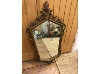 Lovely Shaped Gold Framed Mirror