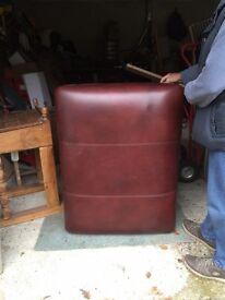 Large leather footstool