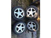 """15"""" Multi fit alloys 5x100 5x112 fit VW Seat Skoda Audi"""