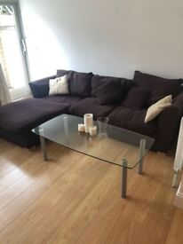 LShape Brown Couch - Clapham Junction