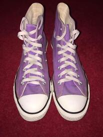 Purple Converse All Star Hi-Tops Size 7.5