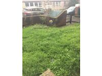 Large 2 bed ground floor own front and back gardens for own use own front door