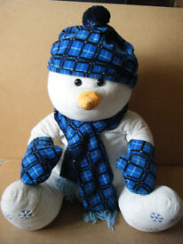 """Lovely """"Plush Snowman"""". 60cm (24 inches) in sitting position. Very good condition."""
