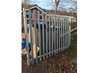 Galvanised palisade fence panel 2.6 x 1.8m