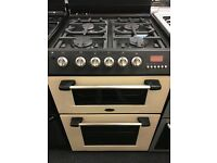 CANNON 60CM ALL GAS COOKER IN CREAM WITH LID