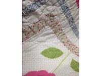 Shabby Chic Single Bedspread