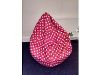 XXL Red Polka Dot Bean Bags