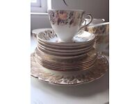 CLARE BONE CHINA - GOLD AND FLORAL - REALLY PRETTY . Excellent condition