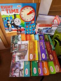 Box set Thomas tank engine books and learn the time book