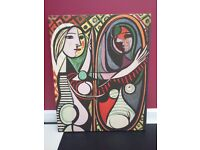 "Pablo Picasso ""Girl Before a Mirror"" 1932 Gallery Wrap Canvas Painting - Excellent re-production"
