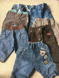7 pairs of new born boy jeans