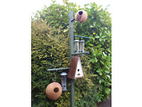 A Selection of Bird Feeders & Nesters, including Bird Post.
