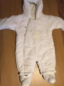 Mothercare winter/snow suit white 3-6 months