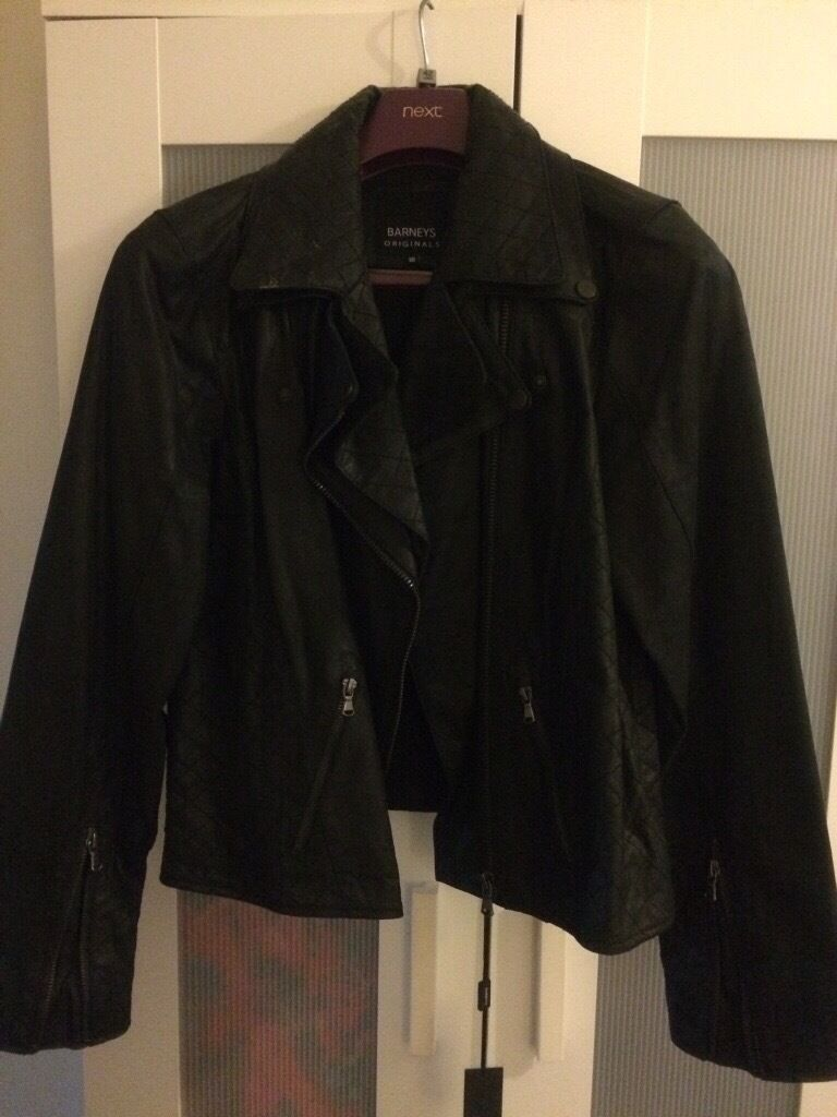 BLACK LEATHER JACKET SIZE 16in Shepperton, SurreyGumtree - Brand new never worn , collection Shepperton only genuine leather still has some tags on it £80 sorry no posting
