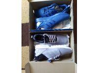 *BARGAIN* 2 Trainers, Mens ZX Flux ADV Blue SIZE 10 and Mens ZX Flux NPS Platinum Size 9