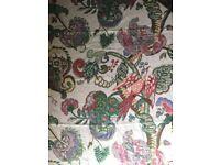 2M Ian Sanderson, Popponjay printed linen fabric