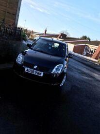 Suzuki swift 58 plate Black, 1.3L petrol, 3 doors, 71446 miles, Former Cat D, 12 months MOT