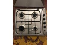 Gas hob and 600mm extractor