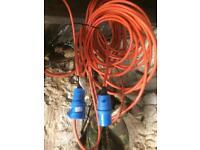 Long Heavy Duty Electric Hook up Cable / Caravan/ Tent / Motorhome