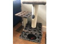 Selling nearly new cat tree and basket - fussy kitten won't use!