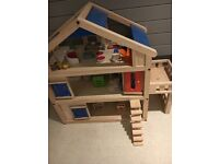 Plan Toys Terrace Dolls House - Large toy in Immaculate Condition