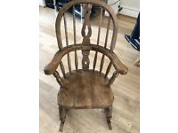 Lovely Wooden Children's Rocking Chair in Excellent Condition