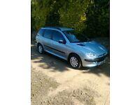 2004 peugeot 206 SW,mot,d,(estate,van,106,polo,fiesta,focus,clio,)