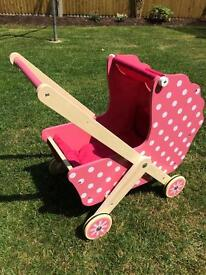 Mamas and Papas Wooden Dolls Pram and Cot