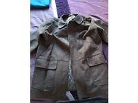 Mens new brown suede jacket