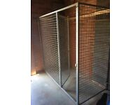 galvanised steel dog run