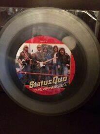 The Wanderer picture disc by status quo