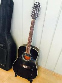 Crafter 12 string acoustic with case