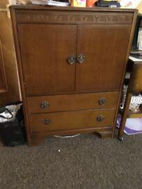 Dark Wooden 1950's Cabinet