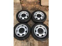 Vw t5 steel wheels with winter tyres
