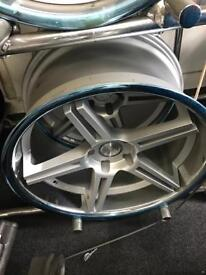 """BMW 5 6 7 series 20 """" inch staggered concave alloy wheels"""