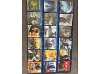 Blu Ray DVDs x 17 mixed genres + 1 StarWars trilogy