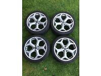 """4x 18"""" Genuine FORD Focus/Mondeo ST alloy wheels"""