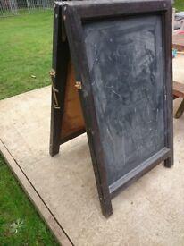 Double sided A frame blackboard