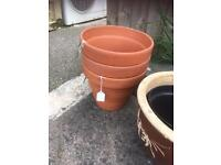 SELECTION OF VARIOUS TERRACOTA PLANT POTS £1 to £5