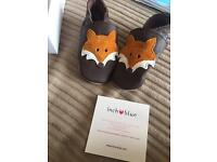 Inch blue handmade 6-12 months fox shoes