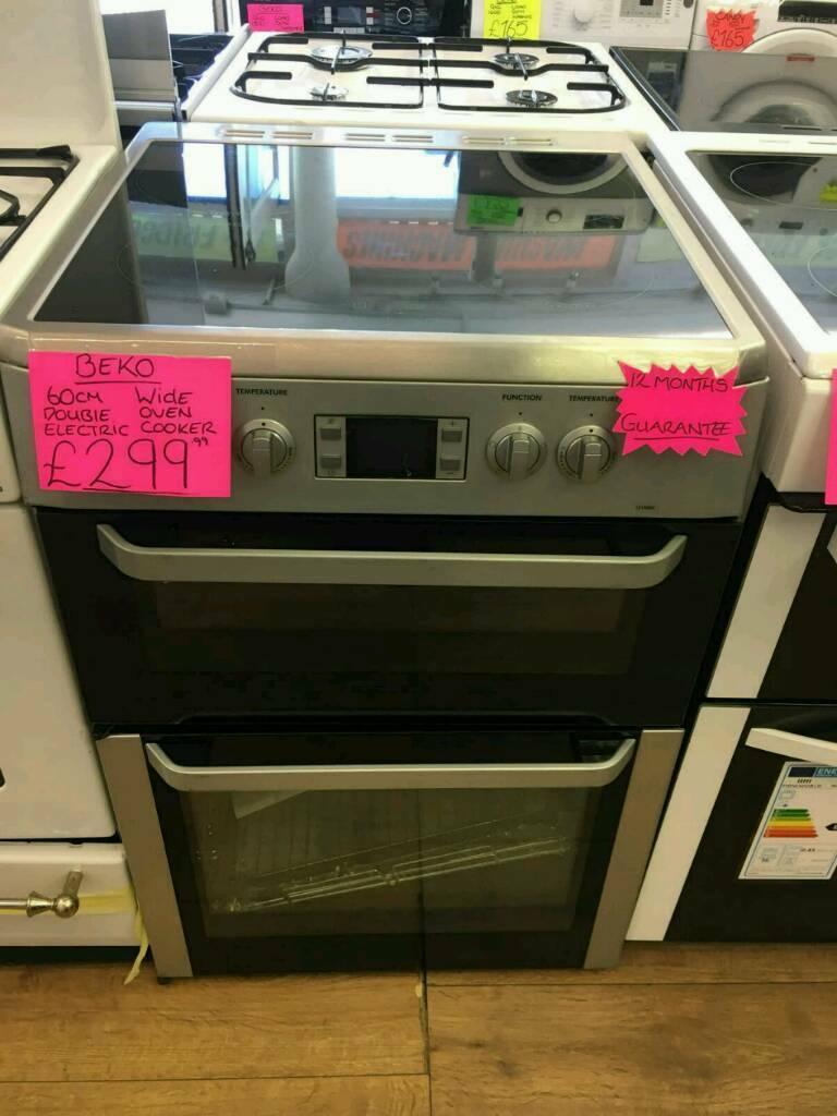 BEKO 60CM ELECTRIC DOUBLE OVEN COOKER IN SILVER ☆BRAND NEW☆