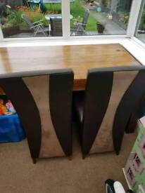 Large table and 4 chairs