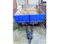 twin axle 4 wheel trailer one ton capacity measuring 236 x 142 cm