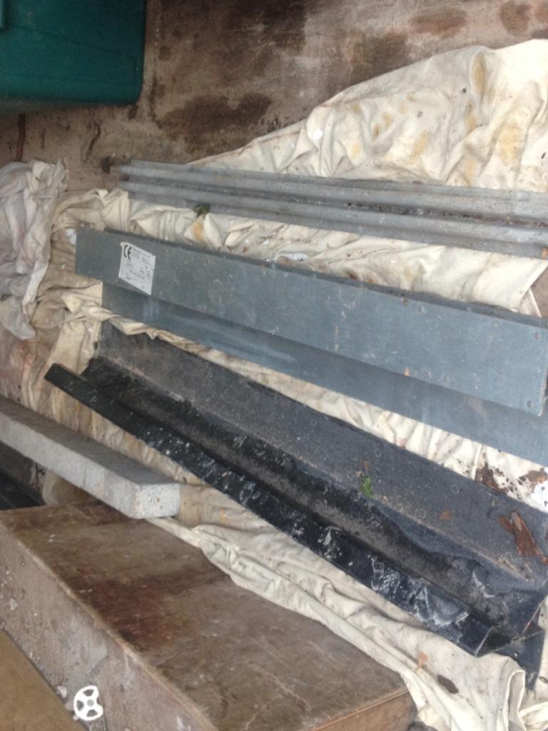 Lintels steel and concrete. Longest Cavity lintel 2.7m 50mm cavity.