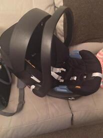 Aton mamas & papas car seat and ISOfix base