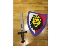 Child's Lego Play Sword and shield.