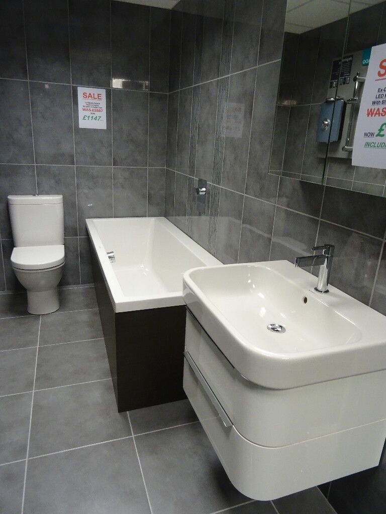 1147 Ex-Display Duravit Suite with Bath WC & Vanity Unit | in Bolton ...
