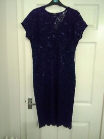 Immaculate Navy Quiz dress Size 18 and Shoes