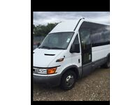 IDEAL CAMPER CONVERSION, 2005 IVECO DAILY MWB 2.8 DIESEL MINIBUS 12 SEATER, LONG M.O.T, ONE OWNER