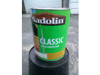 Sadolin Classic woodstain / protector 5 litres Grey for decking and fences Cost £60 new Bargain £20
